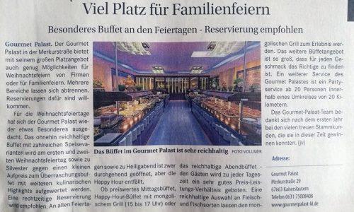 Wochenblatt Kaiserslautern, Oktober 2017